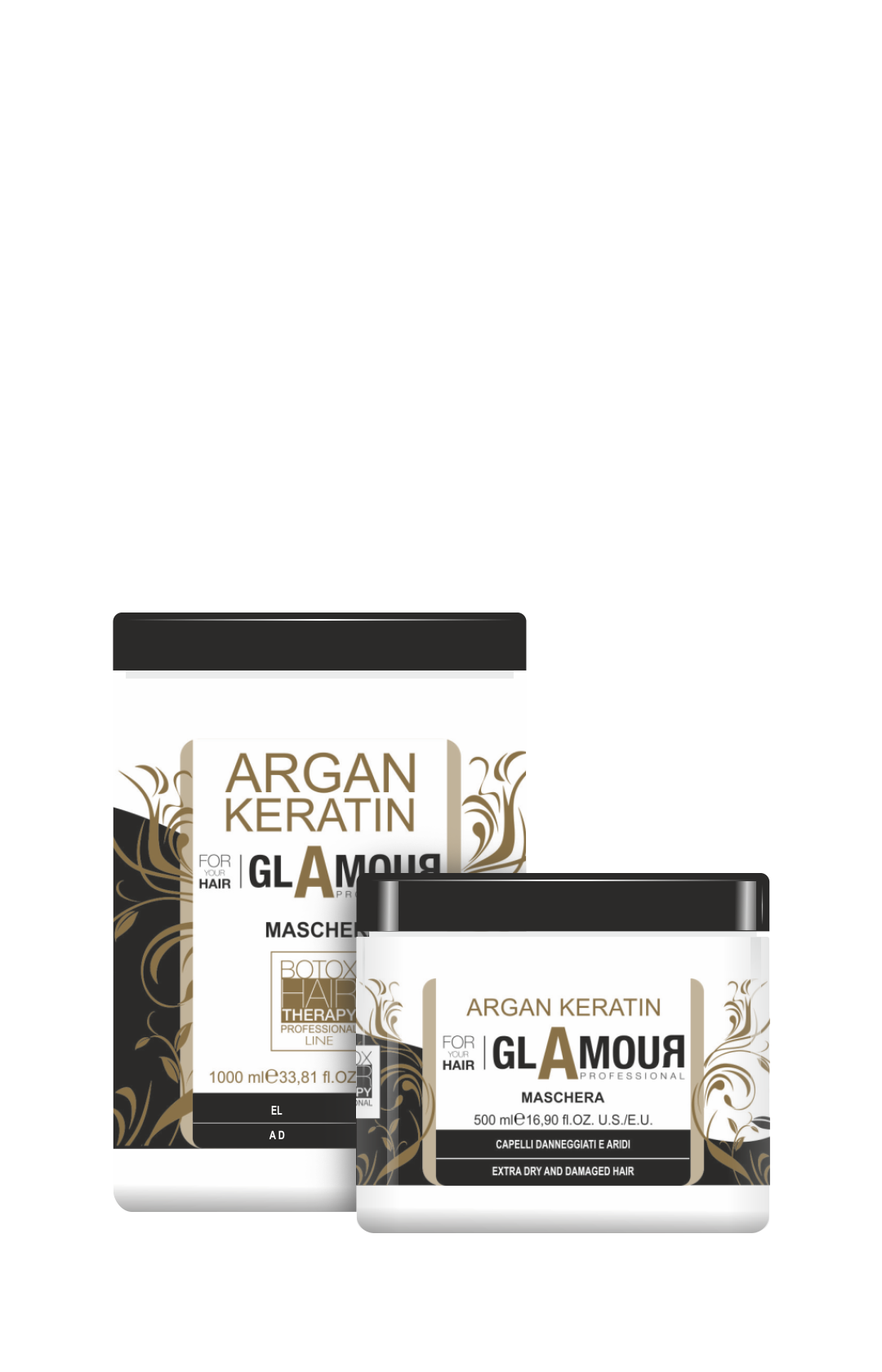 Maschera ultra idratante all'Olio di Argan e Keratina per capelli danneggiati e sfibrati. Ripara, rivitalizza e protegge dai danni atmosferici e dai trattamenti chimici.